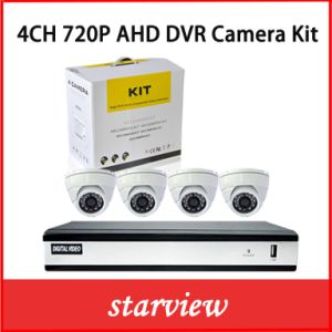 4CH H. 264 720 Ahd DVR with 4 CCTV Cameras pictures & photos