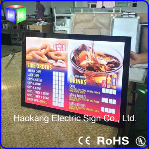 Aluminum Picture Frame Sign for Fast Food Menu Board pictures & photos
