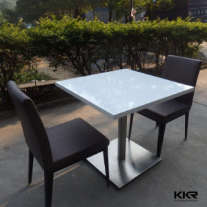 Modern Solid Surface Dining Chairs and Table for Restaurant pictures & photos