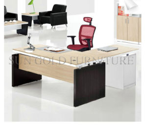 Simple Design Melamine Office Desk with Vice Cabinet (SZ-ODL311) pictures & photos
