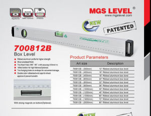 Aluminum Box Level, Spirit Level (700812B) pictures & photos