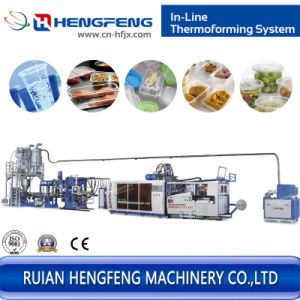 Hygeian Plastic Cup Extrusion and Thermoforming Machine Line (IN-TF70T) pictures & photos