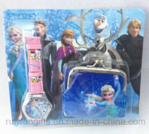 Cartoon Frozen Coin Purse and Watch Business Gift pictures & photos