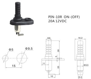 Auto Door Switch Hood Pin Switch for Car (PIN-10R) pictures & photos