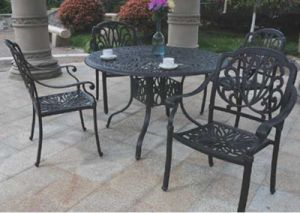 High Quality Dining Sets Cast Aluminum Furniture for Garden pictures & photos