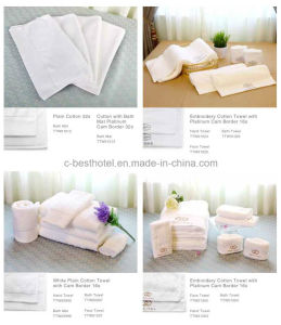Custom White Terry Cotton Hotel Embroider Face Towels Manufacture pictures & photos