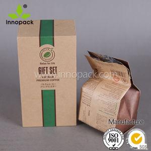 Brown Kraft Paper Side Gusset Printed Coffee Bean Bag pictures & photos