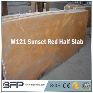 Wholesale Construction Material Stone Material Red Marble Half Slab pictures & photos