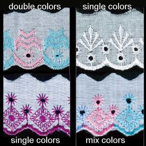 More 6 Years No Complaint Multi Color Swiss Lace pictures & photos