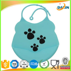 Eco-Friendly Soft Touch Custom Made Silicone Baby Bib pictures & photos