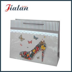 Customize with 3D Shoe Matte Laminated Paper Shopping Gift Bag pictures & photos