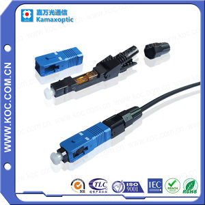Fiber Optic Sc/Upc Fast Install Connector pictures & photos