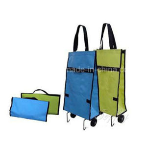 Promotional Shopping Bag with Wheels Made of PVC Material pictures & photos