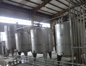 Jacketed Stainless Steel Juice Mixing Tank