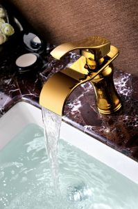 Waterfall Basin Faucet with Single Handle SD-L-001c) pictures & photos