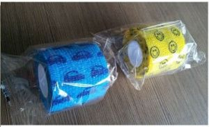 Non-Woven Self-Adhesive Elastic Bandage (Pet bandage) pictures & photos