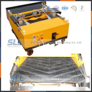 Auto Plastering Machinery with Gypsum Mortar Rendering Wall in Russia pictures & photos