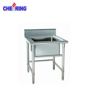 Kitchen Commercial Stainless Steel Single Bowl Workbench Sink pictures & photos