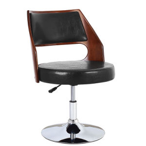 Classical Stainless Steel Round Base Dining Leather Bar Chair (FS-WB1609) pictures & photos