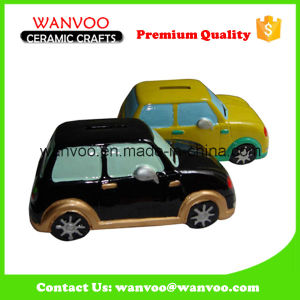 Ceramic Car Sharp Decoration Coin Bank for Children pictures & photos