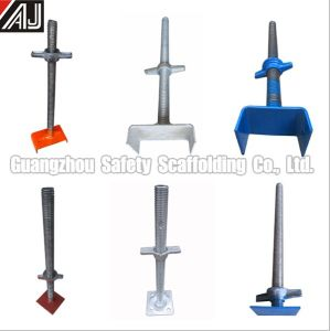 Scaffolding Accessories 600*34mm 700*30mm Frame Scaffolding Jack Base pictures & photos
