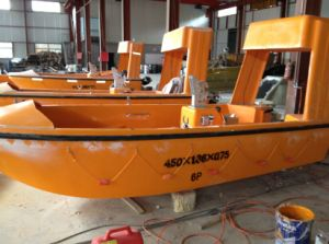 Solas F. R. P Lifeboat and Davit for Marine Lifesaving pictures & photos