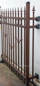 Security No Welding Galvanized Steel Bronze-Coloured Tubular Balcony Railing pictures & photos