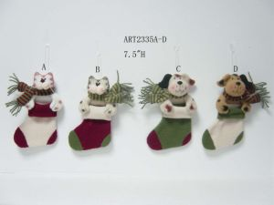 Merry Christmas Cat and Dog Stocking Ornaments, 4 Asst-Christmas Decoration pictures & photos