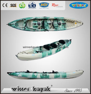 4.5m Plastic Sit on Top Trio Famaily Use Kayak pictures & photos