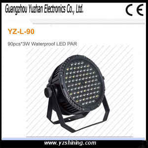 DMX512 Stage Lighting 90pcsx3w Waterproof LED PAR Lighting