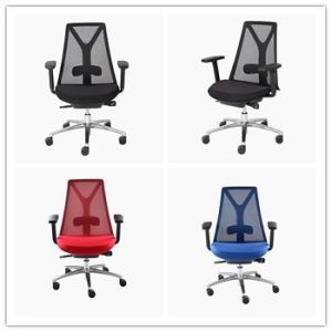 BIFMA Certificate Office Manager Mesh Swivel Chair with PU Armrest (HY-168) pictures & photos