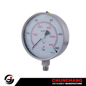 Glycerine Filled Pressure Gauge-Oil Manometer pictures & photos