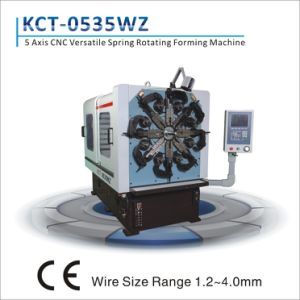 5 Axis 1.2-4.0mm CNC Wire Bending Machine with Wire Rotation&Extension/Torsion Spring Making Machine pictures & photos