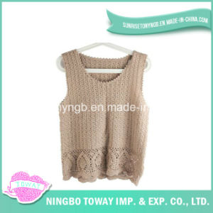 Hand Sweater High Quality Crochet Wool Knitting Vest-06 pictures & photos