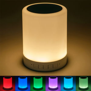 Wireless Smart Bluetooth Speaker Stereo Colorful Touch LED Light Lamp Music Player pictures & photos