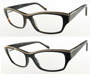 High Quality Acetate Optical Frame with Metal Decoration for Woman pictures & photos