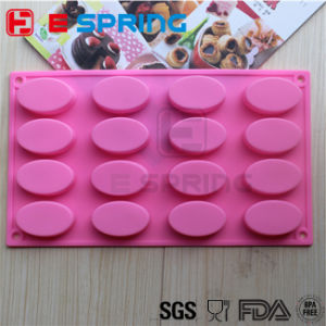 16 Cavities Silicone Flexible Cake Mold Soap Making Mold Ice Making Mold pictures & photos