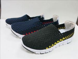 Cheap Colourful Woven Shoes Men pictures & photos