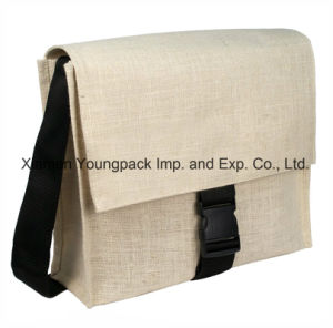 Promotional Satchel Natural Jute Burlap Shoulder Messenger Bags pictures & photos