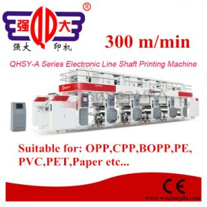 Qhsy-a Series 8 Colors 600mm Width Electronic Line Shaft Plastic Film Gravure Printing Machine pictures & photos