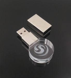 3D Inside Logo Custom Photography Glass Crystal USB 2.0 Flash Drive pictures & photos