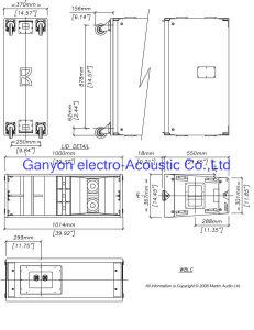 "3-Way Single 12"" Outdoor Line Array Speaker, W8LC, Professional Loudspeaker pictures & photos"