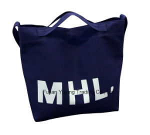 Black Promotional Organic Cotton Bag with Custom Printing pictures & photos