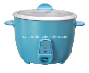 Kitchen Cooker Drum Type Electric Rice Cooker with Glass Lid