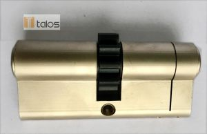 Standard 6 Pins Euro Double Cylinder Lock Satin Nickel pictures & photos