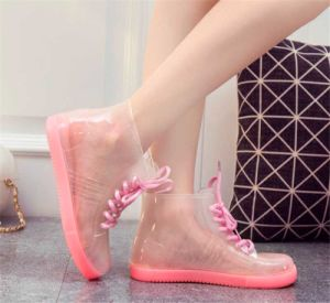 Jelly Women PVC Galoshoes Rain Boots pictures & photos
