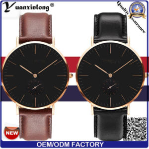 Yxl-010 Custom Dw Women and Men Watch, Cheap Dw Watch Design, Super Slim Leather Dw Watch pictures & photos