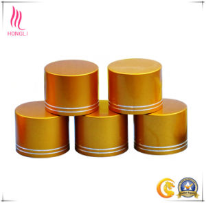 Cosmetic Packaging Aluminum Bottle Cap for Body Lotion pictures & photos