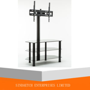 TV Mounting Glass Center Black Steel TV Stand pictures & photos