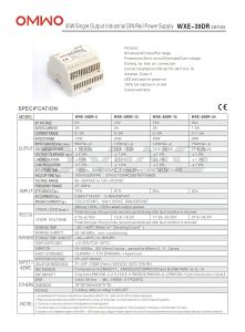 Omwo Wxe-30dr-12 DIN Rail Single Output Switching Power Supply pictures & photos